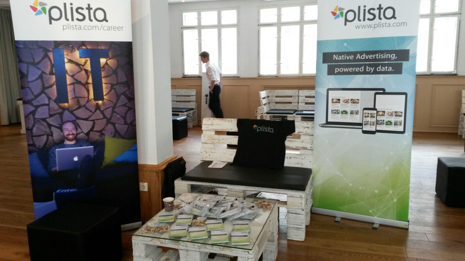plista stand at Berlin Talent Summit 2016