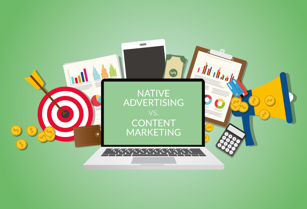 Image Native Advertising vs Content Marketing