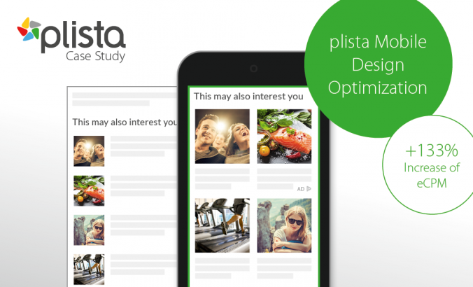 plista did a 7-month A/B test and redesigned the mobile article widgets from the classical list view to a two-block widget with big images.