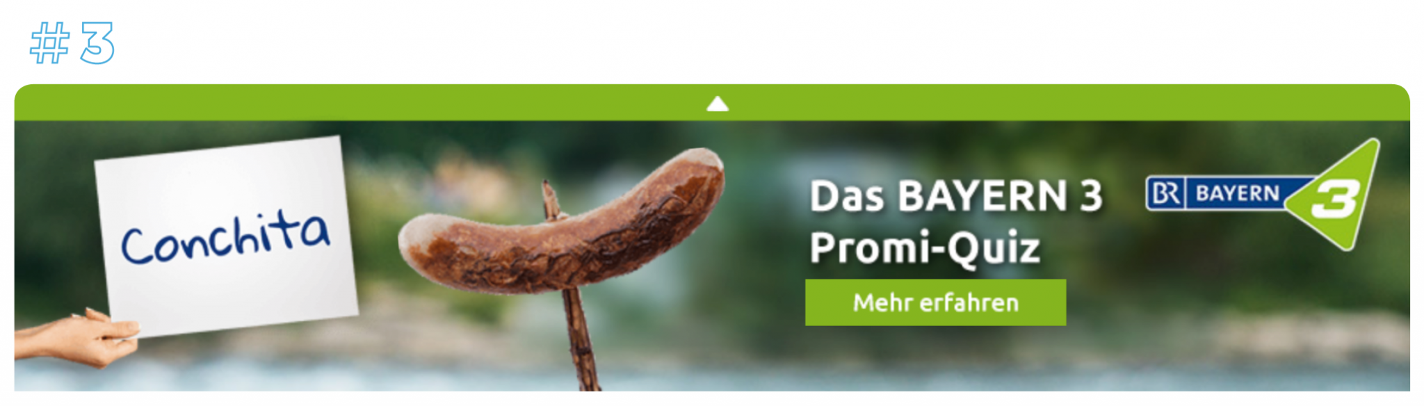 In this image you can see a plista campaign from Bayern 3